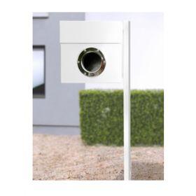 Cutii postale cu stativ din otel acoperit cu nichel inclus Riogrande LET 5