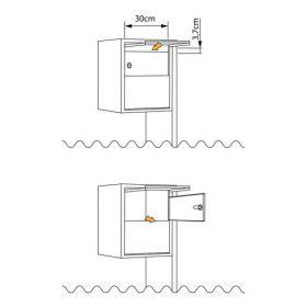 Casuta postala cu montare la sol si suport inclus pentru doi utilizatori Ursinia IOS 8