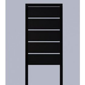 Casuta postala cu suport pentru bloc si apartament cu 5 cutii postale individuale Pansy IOS 5