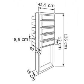 Casuta postala cu suport pentru bloc si apartament cu 5 cutii postale individuale Pansy IOS 6