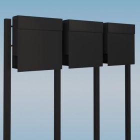 Casuta postala de capacitate mare cu trei compartimente pentru corespondenta Anthurium IOS 3